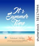summer vector element  summer... | Shutterstock .eps vector #581174944