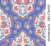 seamless pattern with fantasy... | Shutterstock .eps vector #581176435