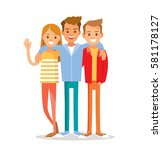 group of friends hugging | Shutterstock .eps vector #581178127