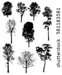 tree collection vector... | Shutterstock .eps vector #581183581