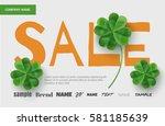 banner design template for sale ... | Shutterstock .eps vector #581185639