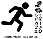 running man pictograph with... | Shutterstock .eps vector #581185987