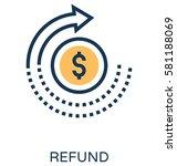 refund vector icon  | Shutterstock .eps vector #581188069