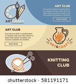 art club banners templates for...   Shutterstock .eps vector #581191171