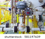level control valve open or... | Shutterstock . vector #581197639