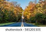 Road Through Fall Foliage In...