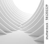 3d illustration of white column ... | Shutterstock . vector #581202229