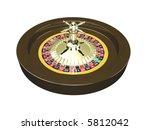 3d roulette wheel isolated on... | Shutterstock . vector #5812042