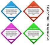 web banner illustrator design | Shutterstock .eps vector #581205451