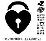 love heart lock icon with bonus ...   Shutterstock .eps vector #581208427