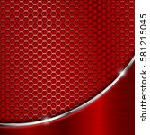 red metal perforated background ... | Shutterstock .eps vector #581215045