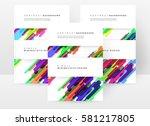 memphis geometric background... | Shutterstock .eps vector #581217805