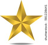 gold star in vector | Shutterstock .eps vector #581228641