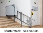 stair lift for the disabled.... | Shutterstock . vector #581230081