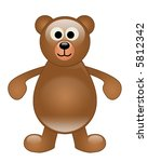 a teddy bear on a white... | Shutterstock . vector #5812342