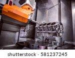 metalworking cnc milling...   Shutterstock . vector #581237245