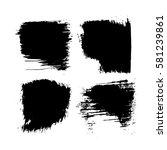 set of black paint  ink  grunge ... | Shutterstock .eps vector #581239861
