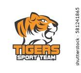 tiger logo in sport theme | Shutterstock .eps vector #581241865