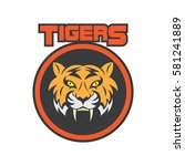 tiger logo in sport theme | Shutterstock .eps vector #581241889