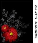 floral background | Shutterstock .eps vector #58124692