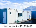 new gray mobile home container | Shutterstock . vector #581251699