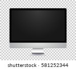 vector realistic monitor... | Shutterstock .eps vector #581252344