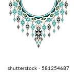 geometric ethnic pattern neck...   Shutterstock .eps vector #581254687