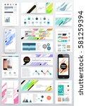 memphis geometric background... | Shutterstock .eps vector #581259394