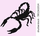 Scorpion Silhouette Vector...