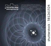 spiral web structure on dark... | Shutterstock .eps vector #581261524