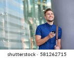 portrait of happy young man... | Shutterstock . vector #581262715