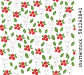 seamless baby pattern with cute ... | Shutterstock .eps vector #581262841