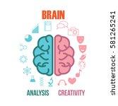 brain activity illustration   Shutterstock .eps vector #581265241
