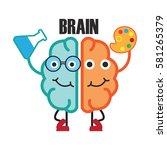 brain activity illustration | Shutterstock .eps vector #581265379