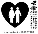 family love heart icon with... | Shutterstock .eps vector #581267401