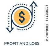 profit and loss vector icon | Shutterstock .eps vector #581268175