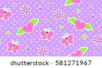seamless pattern of cute... | Shutterstock .eps vector #581271967