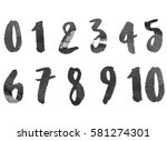 numbers   figures | Shutterstock .eps vector #581274301