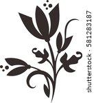 floral vector | Shutterstock .eps vector #581283187