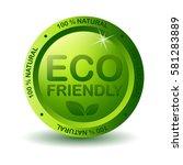 green eco friendly label | Shutterstock . vector #581283889