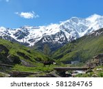 the caucasus mountains | Shutterstock . vector #581284765