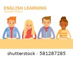 international students learning ... | Shutterstock .eps vector #581287285