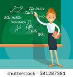 professor teaching science | Shutterstock .eps vector #581287381