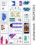 memphis geometric background... | Shutterstock .eps vector #581291311