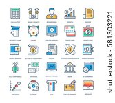 finance and banking vector icons | Shutterstock .eps vector #581303221