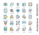 finance and banking vector icons | Shutterstock .eps vector #581303251
