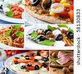 italian cuisine | Shutterstock . vector #58130833