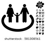 family area pictograph with... | Shutterstock .eps vector #581308561