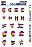 colorado flag collection. big... | Shutterstock .eps vector #581309461