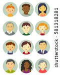set of people icons of all... | Shutterstock .eps vector #581318281